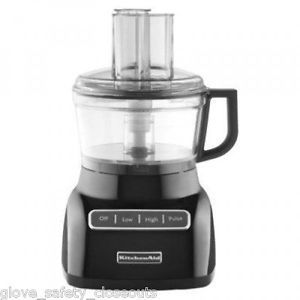 Brand New KitchenAid KFP0711OB 7 Cup Food Processor Wide Mouth Feed Tube Onyx