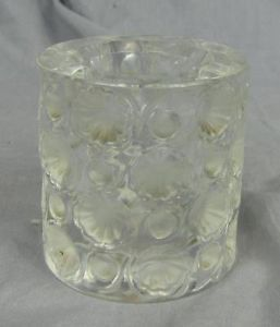 Uncommon Lalique Candle Holder Cigarette Holder w Shell Forms 2