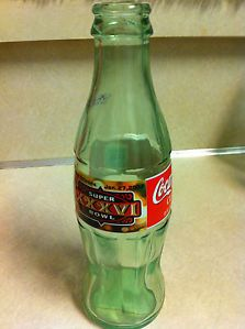 Coca Cola Bottle XXXV1 Super Bowl Error January 27 2002 Empty