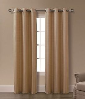 Isabelle Gold 2 Panels Grommet Top Curtain Set Brand New