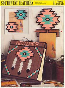Southwest Feathers Plastic Canvas Pattern Recipe File
