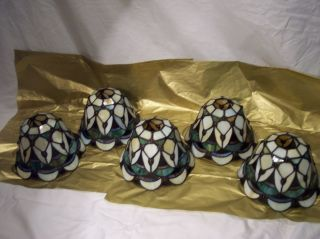 Lamp Shades Globes Stained Glass Globes Lot of 5 Pendant Light Shades