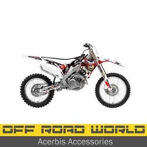 Flu Designs Unbound MX Bike Graphics Kit Seat Cover Honda CRF 450 2009