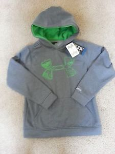 Youth Boys Under Armour Hoodie Sweatshirt Sz YMD Medium Storm Gray Green