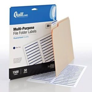 Quill 7 31543 Printable File Folder Labels 1 500 Box