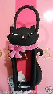 Bath Body Works PocketBac Holder Black Cat with Pink Bow for Hand Sanitizer