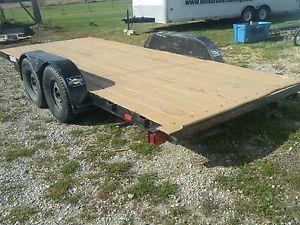 18' x 7' Flatbed Heavy Haul Utility Trailer Cargo Trailer Car Hauler