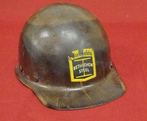 Vintage MSA Bethlehem Steel Worker Hard Hat Cap Skullguard