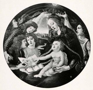 1903 Print Botticelli Religious Art Madonna Magnificent Virgin Mary Baby Jesus