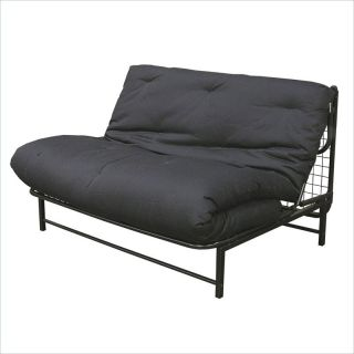 Elite Products E Frame Full Size Futon with Black Metal Frame   55 3544 050
