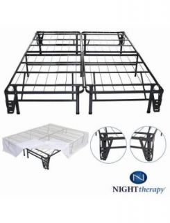 Night Therapy SCSBBK14K Platform Metal Bed Frame Foundation Set King