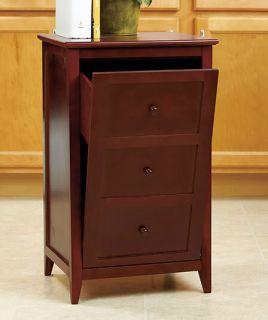 Wooden Tilt Out Garbage Trash Can Bin Kitchen Home Black Brown New Indoor Table