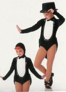 Penguin Parade Tux Tails Showgirl Halloween Jazz Tap Dance Costume Choose Sz Ver