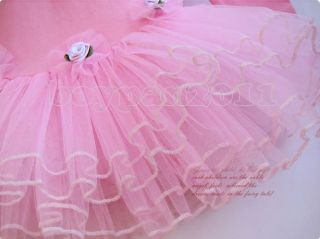New Kids Girls Party Dancing Leotard Ballet Pink Blue Tutu Dress Ages 3 8years