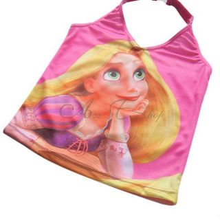 Girls Tangled Rapunzel Tankini Swimwear Bathing Suit Swimsuit Beachwear Sz 3 10