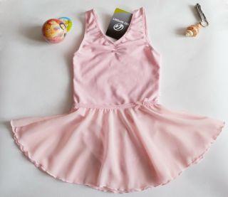 548ee77f3 Girls Gymnastics Kids Dance Dress S2 14Y Ballet Tutu Leotard Pink ...