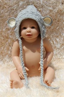 New Lovely Handmade Cotton Newborn Baby Knit Crochet Elf Hat Wizard 0 3Year Gift