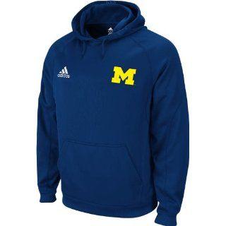 Michigan Wolverines Adidas Navy Pindot Hooded Sweatshirt 8809