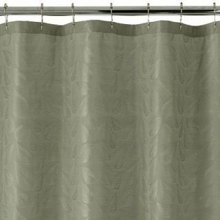 Croft Barrow Kendall Fabric Shower Curtain Sage Green Leaves Bath