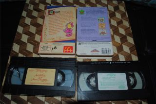 Muppet Babies Video Storybook VHS Pair Vol 3 '86 Snow White Seven Muppets 1988