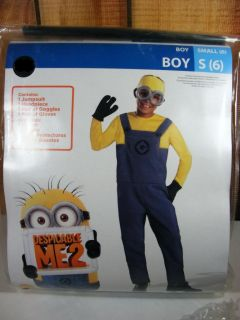 Minion Despicable Me 2 Costume Boy's Small s 6 New