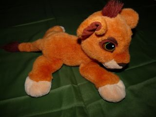 Vtg RARE Plush Disney The Lion King Simba Baby Cub Purrs Simba's Pride Lays Down