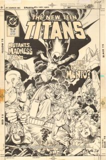 New Teen Titans 34 Cover Raven Cyborg Nightwing Starfire 1987 Eduardo Barreto