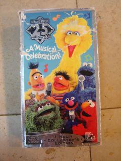 Sesame Street 25 Wonderful Years A Musical Celebration VHS Tape