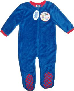 Boys Fleece Sleeper Onesie Sleepsuit George Pig 12 18 18 24 2 3 3 4 Yrs