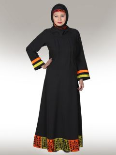 Decent Embroidered Abaya AY106MT Jilbab Hijab Islamic Women Clothing Online