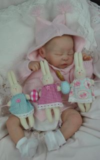 Bespoke Babies 'Quinlynn' Laura Lee Eagles Reborn Baby Girl Tummy Plate