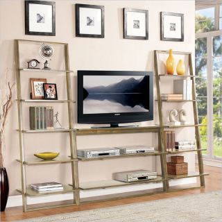 Riverside Furniture Lean Living TV Stand in Smoky Driftwood   27743