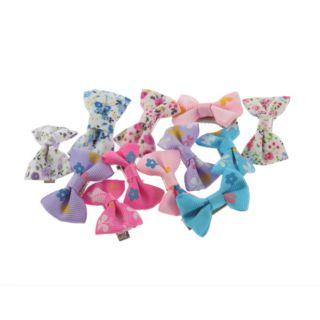 Girls Baby Toddler Kids Hair Bow Bowknot Flower Grosgrain Ribbon Alligator Clip