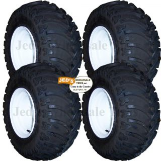 4 25x12 10 Lifted Off Road Golf Cart Tires Rims Wheels for EZGO Club Car Yamaha