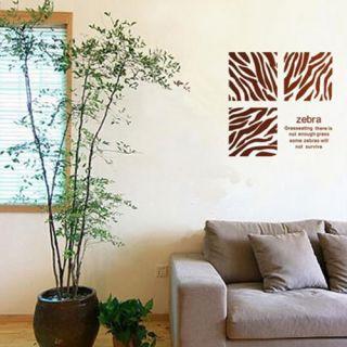 Zebra Stripe Pattern Graffiti Wall Home Decor Mural Decal Removable Sticker