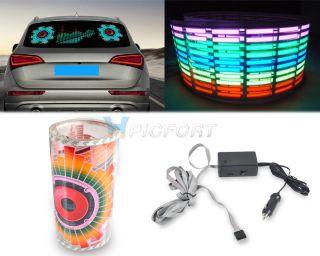 90x25cm Car Sticker Music Rhythm LED Light Lamp Sound Activated Equalizer Horn