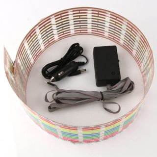 90x10cm Car Sound Music Activated Stickers Equalizer Glow 12V LED Light