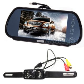"""7"""" Security LCD Wide Screen Car Rear View Backup Parking Mirror Monitor Camera"""