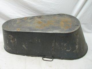 Antique Tin Metal Victorian Baby Bath Tub Home Decor