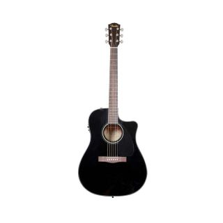 Fender CD 60CE Black 6 String Acoustic Electric Guitar w Case New 717669396787