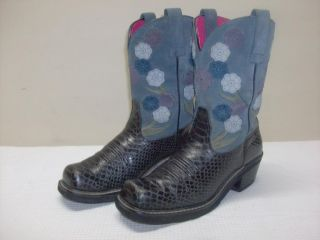 Ariat Boots Ariat Doll Baby Boots Womens Cowboy Boots 9 5 Black Denim 16209