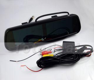 "GPS 4 AV Input 4 3"" TFT LCD Car Rear View Backup Mirror Monitor Double Screen"