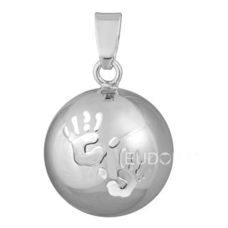 Cute Baby Hands Chime Bola Ball Pregnancy Belly Bell Pendant Necklace N14NB172
