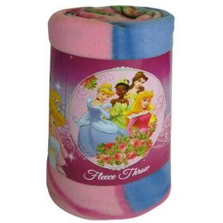 Disney Princess Tiana Belle Cinderella Fleece Blanket