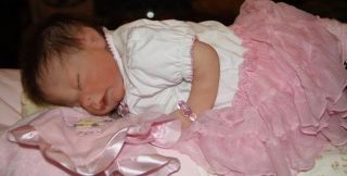 "Angela Harris Platinum Silicone Marvel Precious Reborn Baby Doll 18"" w Clothes"