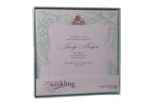 "100 Wedding Bridal Shower Party Rose Mint Green Invitations Printable DIY 6"" New"