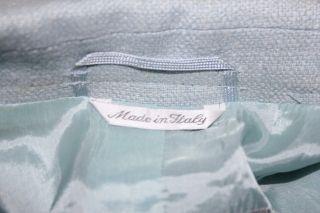 Max Mara Women Baby Blue Wool $695 Coat Jacket Size Medium