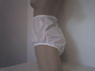 Baby Pink Nylon Full Panties Vintage Style with Mushroom Gusset L XL 51""