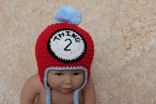 New Cute Handmade Cotton Twins Baby Child Knit Hat Cap Newborn Photo Prop 2 Hats