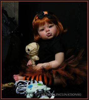 Reborn Goth OOAK Vampire Girl Toddler Arianna Twilight Redhead Gothic Holloween